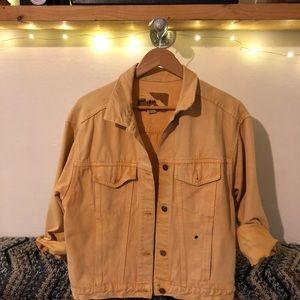 Yellow vintage Jean jacket